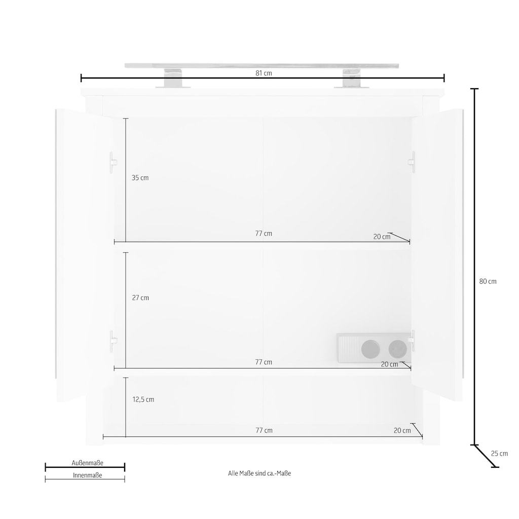 trendteam Spiegelschrank »Ole«, optional mit LED-Beleuchtung