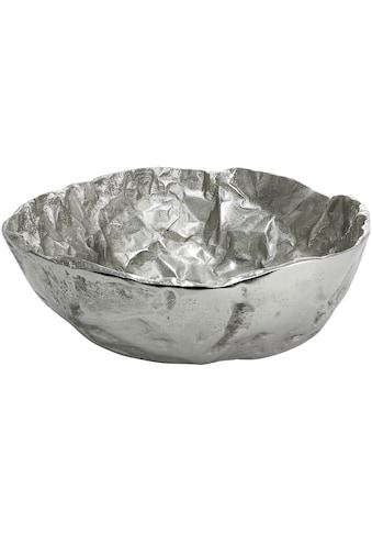 GILDE Dekoschale »Schale Arrugada«, aus Metall, rund, Ø 36 cm, Wohnzimmer kaufen