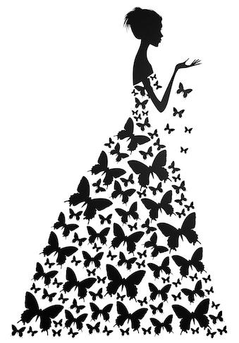 Wall - Art Wandtattoo »Schmetterlingsfrau« kaufen