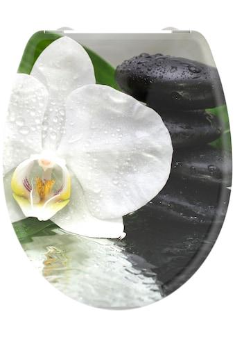welltime WC-Sitz »White Flower«, hochwertiger abnehmbarer Premium-Toilettendeckel mit... kaufen