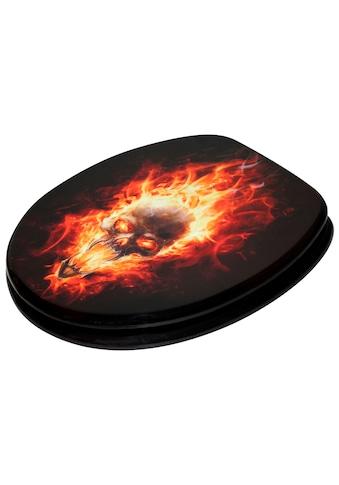 Sanilo WC - Sitz, »Totenkopf in Flammen« kaufen