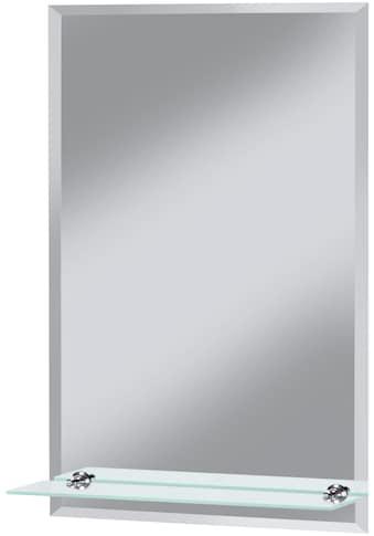 WELLTIME Badspiegel »Flex«, 40 x 60 cm, mit Glasablage und Facettenschliff kaufen