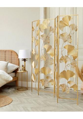 Schneider Paravent »Paravent Golden Leaves«, Art déco Design kaufen