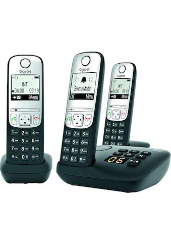 Gigaset Schnurloses DECT-Telefon »A690A Trio«, (Mobilteile: 3) kaufen