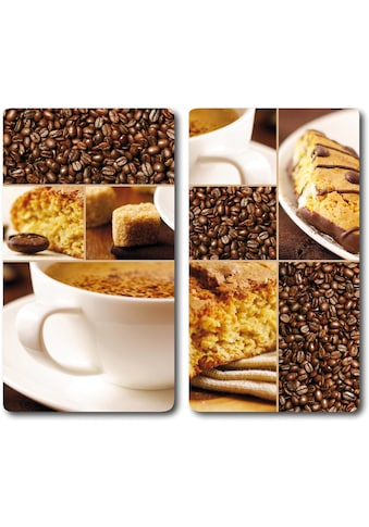 """KESPER for kitchen & home Schneide -  und Abdeckplatte """"Kaffee"""", ESG - Sicherheitsglas, (Set, 2 - tlg.) kaufen"""
