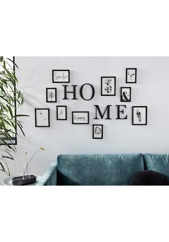 my home Bilderrahmen, für 10 Bilder, (14-teilig), Fotorahmen, schwarz, mit Schriftzug,... kaufen