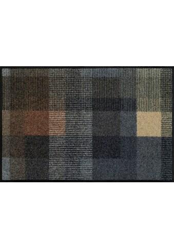wash+dry by Kleen-Tex Fußmatte »Quadratini«, rechteckig, 7 mm Höhe, Schmutzfangmatte,... kaufen