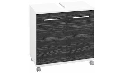 Schildmeyer Waschbeckenunterschrank »Emmi«, Höhe 63,5 cm, Metallgriffe, auf Rollen kaufen