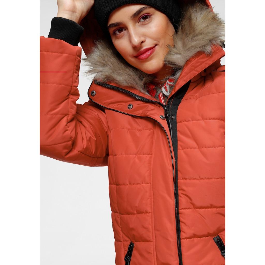 ALPENBLITZ Winterjacke »Bern«, zeitloser Steppmantel mit abnehmbarer Kapuze