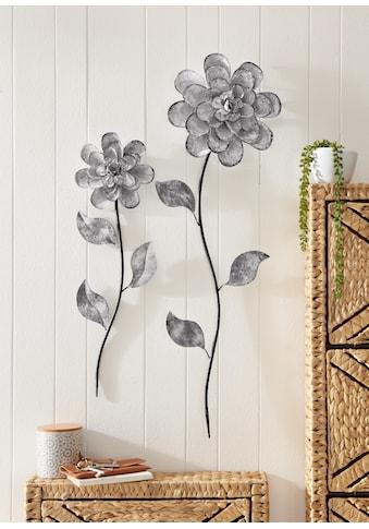Home affaire Wanddekoobjekt »Wanddeko Blumen« (2er - Set) kaufen