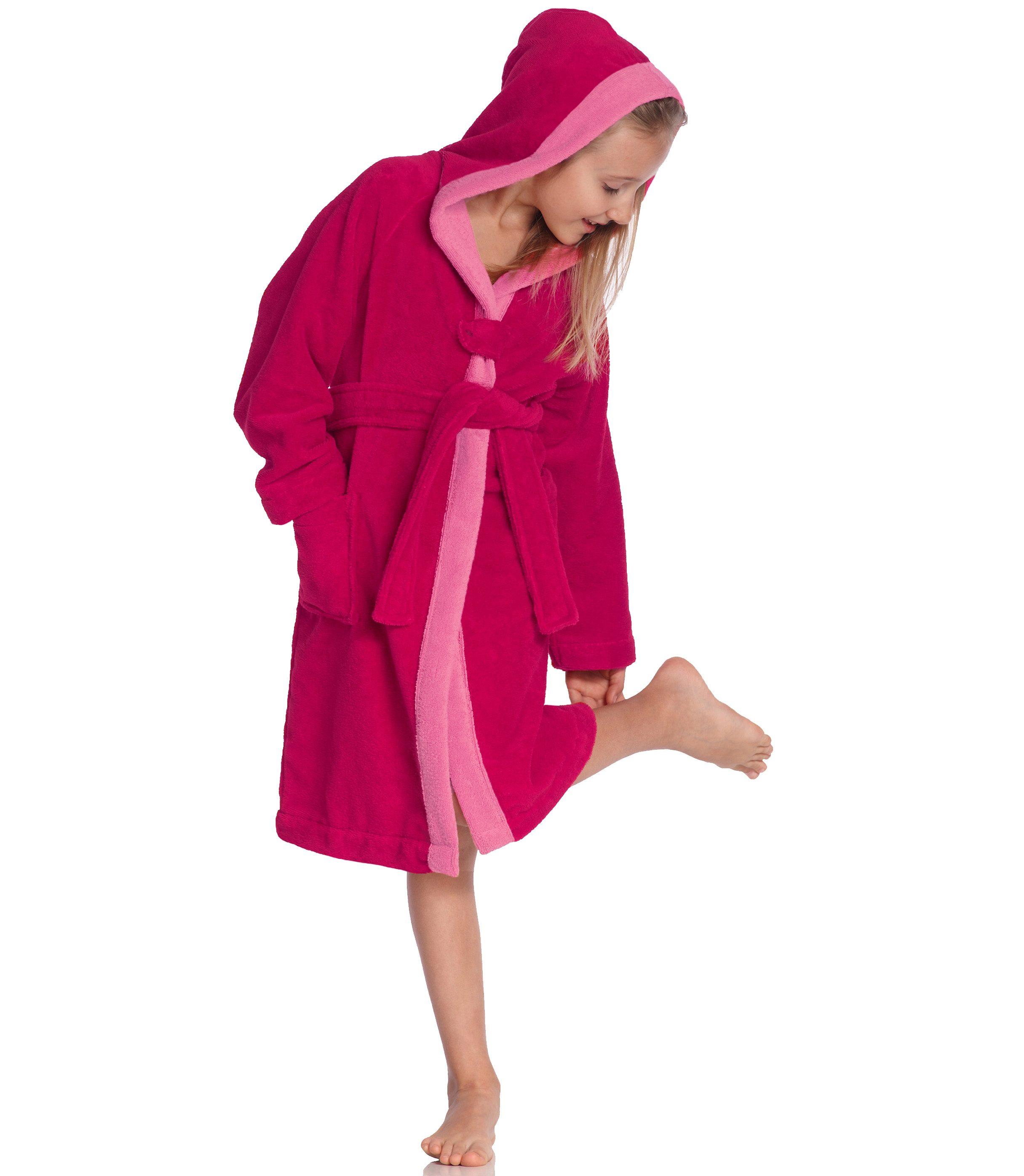 Kinderbademantel »Bixie«, Vossen | Bekleidung > Wäsche > Bademäntel | Rosa | Velours | VOSSEN