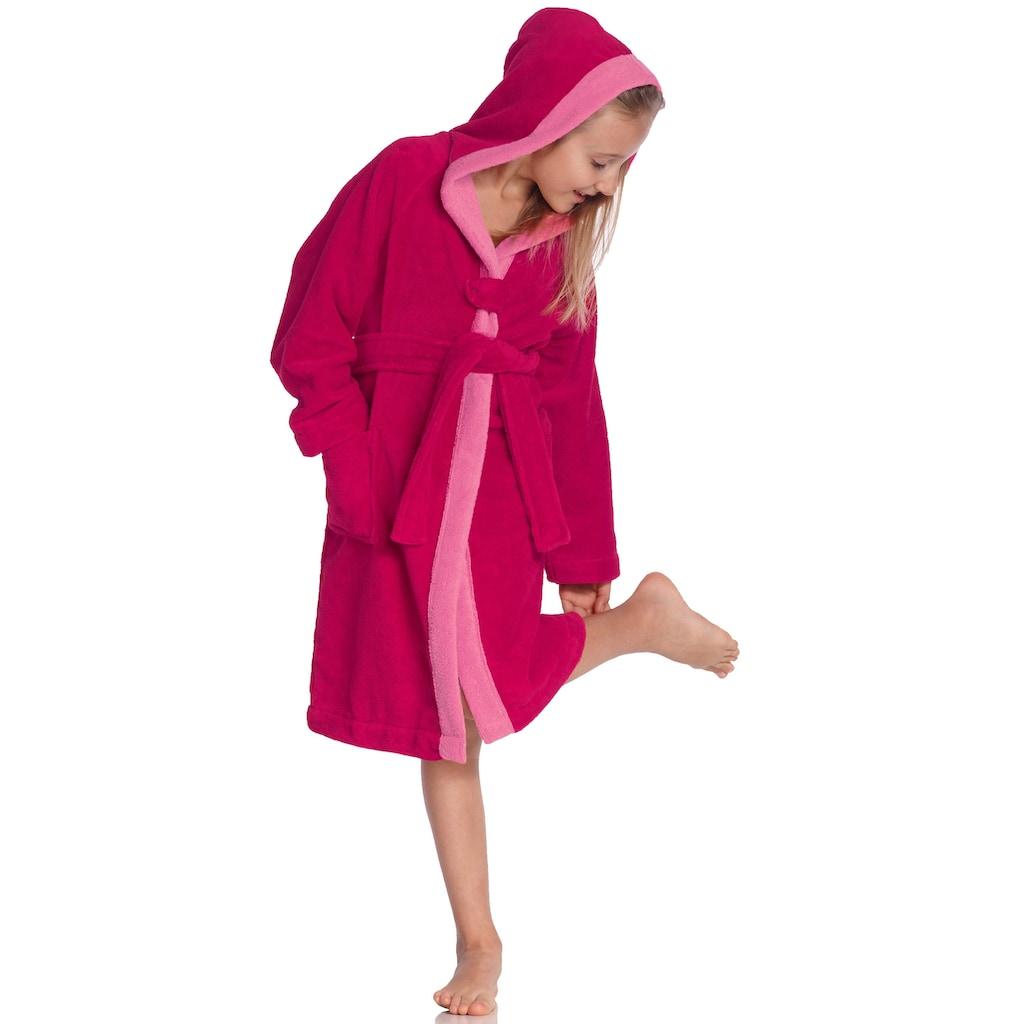 Vossen Kinderbademantel »Bixie«, farblich abgesetzter Saum