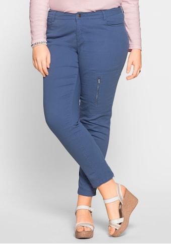 Sheego Stoffhose, Reißverschluss am Beinabschluss kaufen