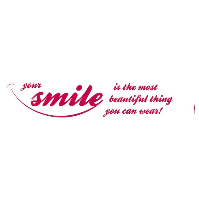 KOMAR Packung: Wandtattoo »Your Smile«, 5-teilig