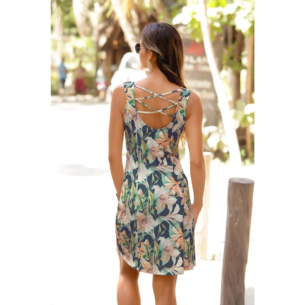LASCANA Sommerkleid, mit tiefem Rückenausschnitt