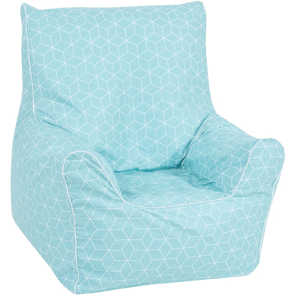Knorrtoys® Sitzsack »Junior - Geo cube, neo mint«