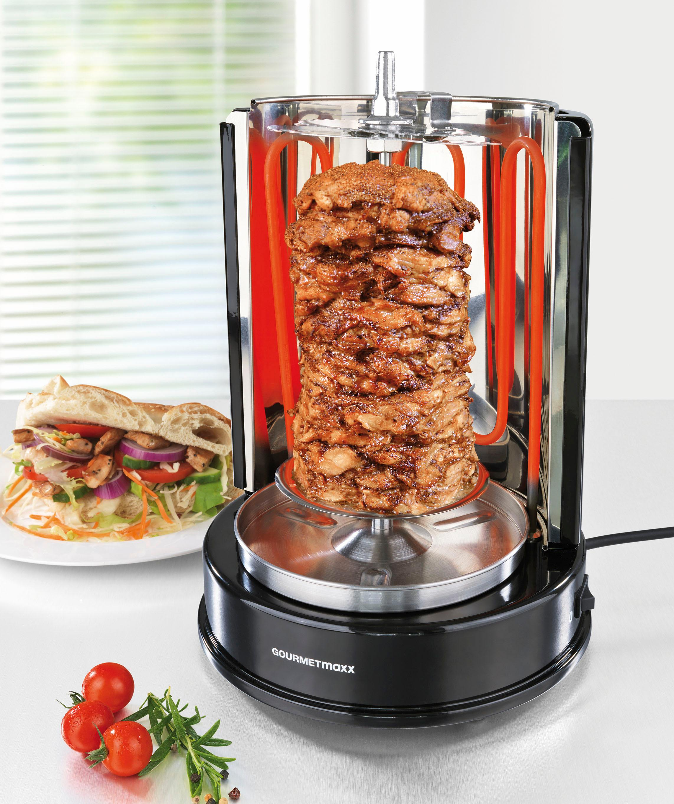 gourmetmaxx d nergrill f r bis zu 4 kg fleisch 1400 watt. Black Bedroom Furniture Sets. Home Design Ideas