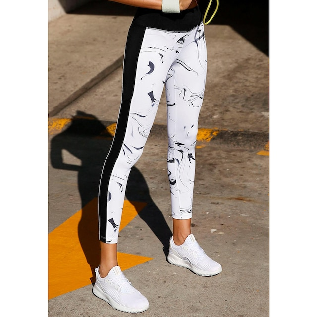 LASCANA ACTIVE Leggings »White Marble«