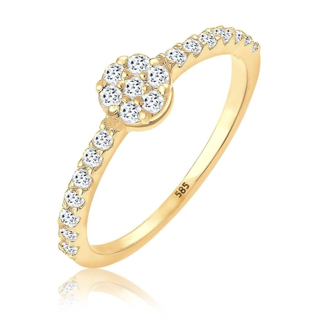 Elli Premium Goldring »0608190317«, mit Topas