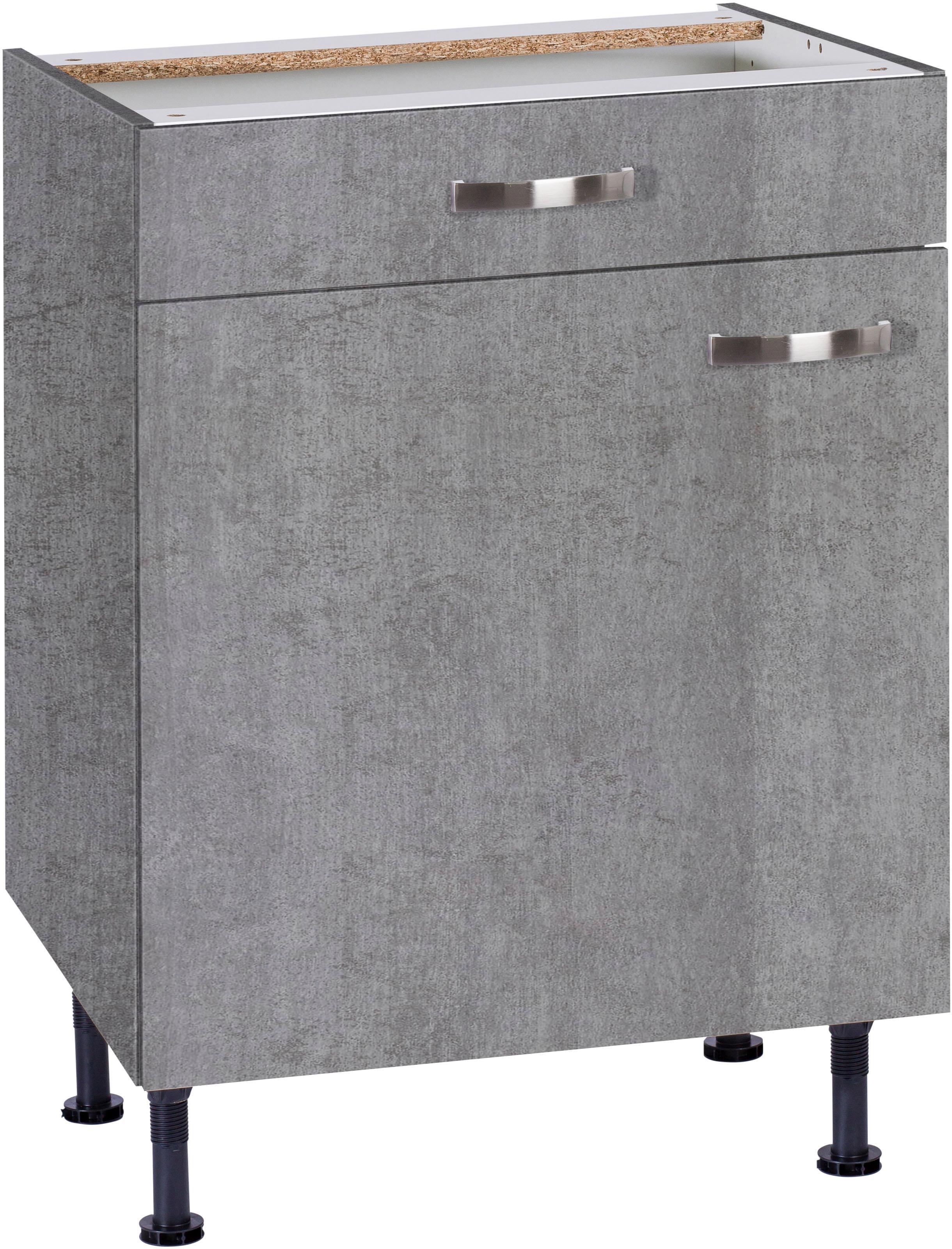 betongrau-metall Küchen-Unterschränke online kaufen   Möbel ...