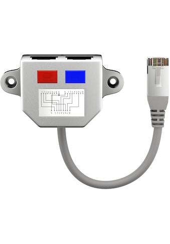 Goobay »(1x RJ45 Stecker auf 2x RJ45 Buchse)« Adapter kaufen