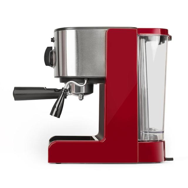 Klarstein Espressomaschine Capuccino Siebträgermaschine Milchaufschäumer »Passionata 15«
