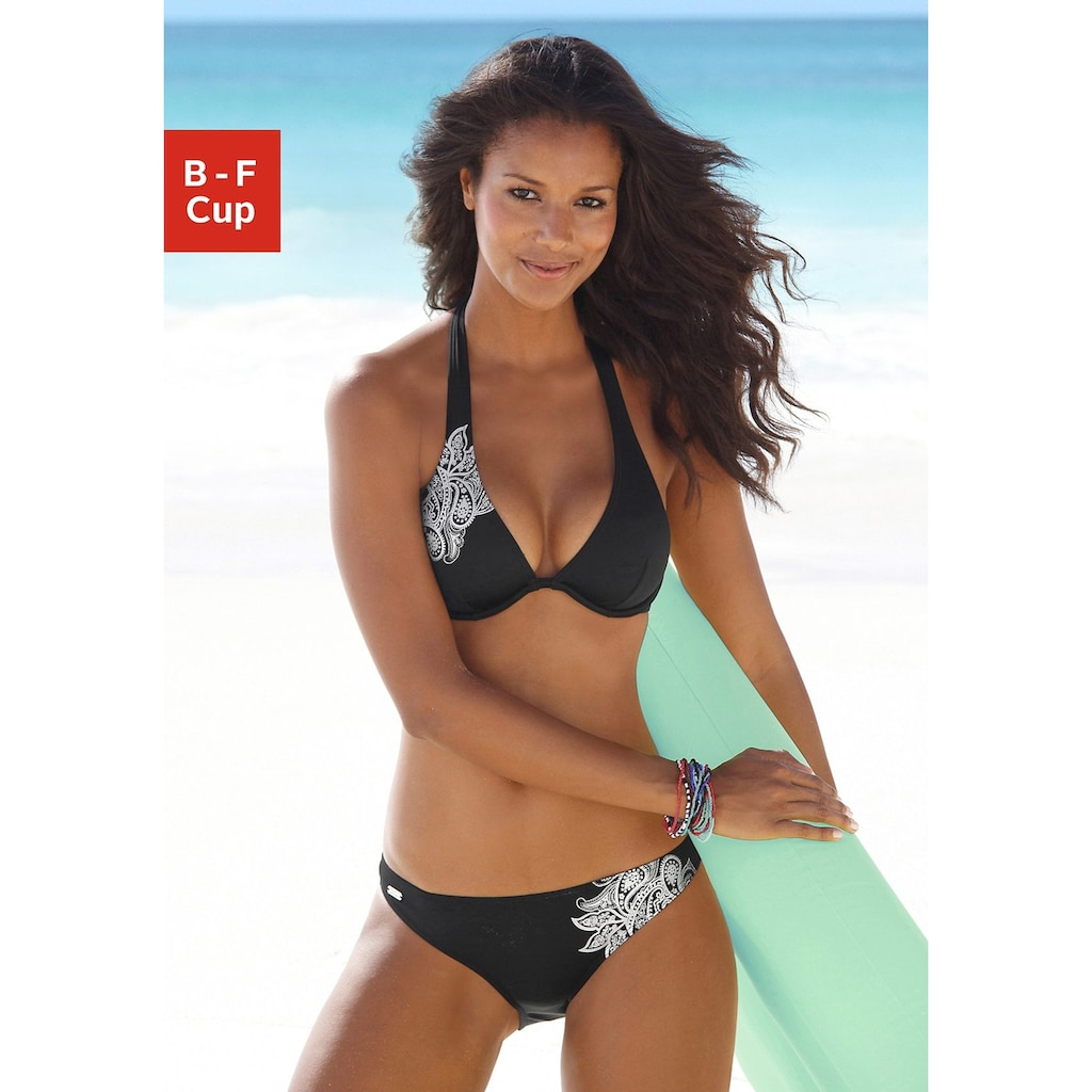 Venice Beach Bügel-Bikini, mit glänzendem Druck