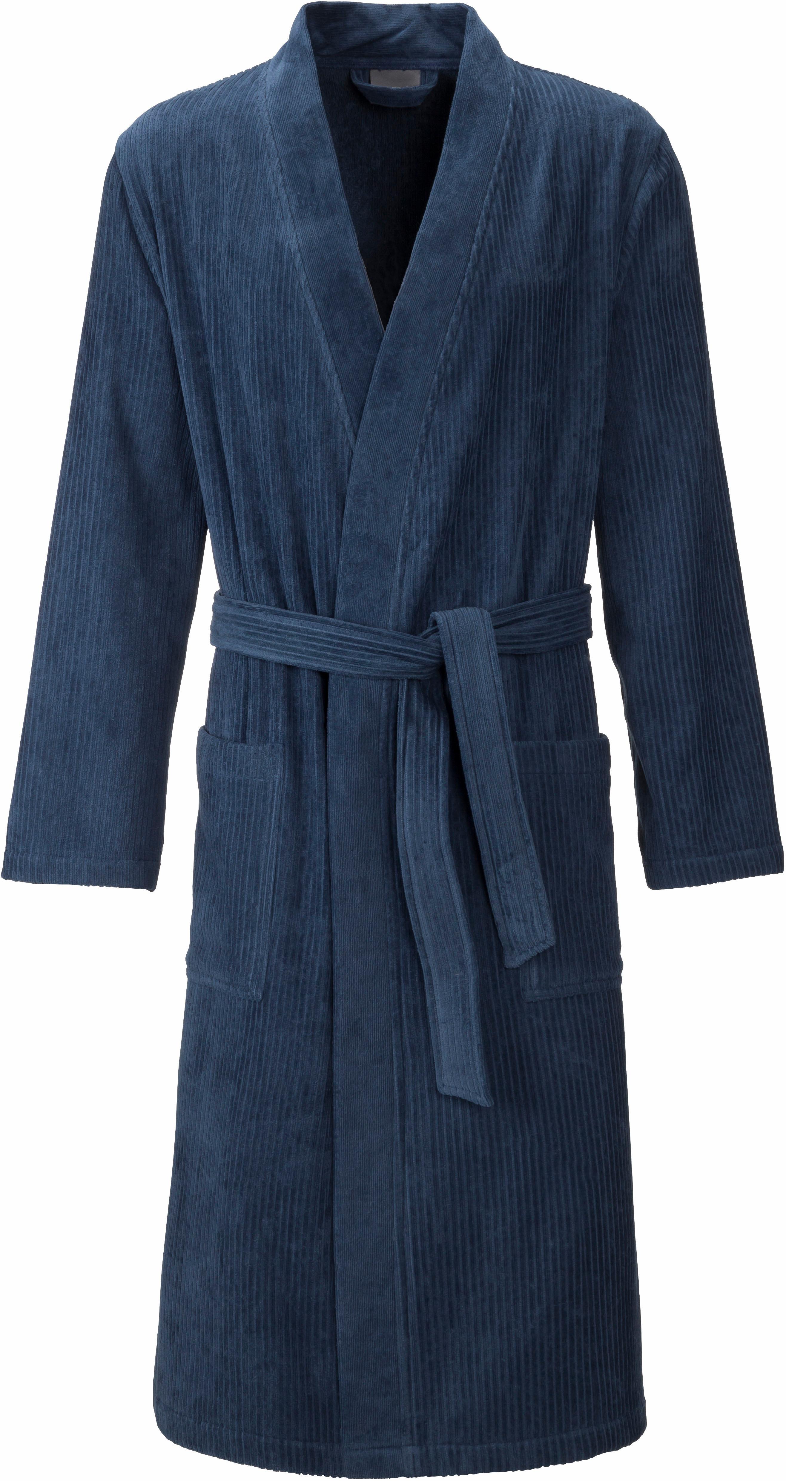 Herrenbademantel, Egeria, »Adam«, mit aufgesetzten Taschen | Bekleidung > Wäsche > Bademäntel | Blau | Velours - Baumwolle | EGERIA