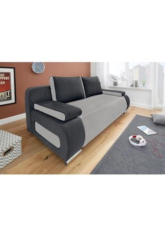 COLLECTION AB Schlafsofa, mit Federkern, inklusive Bettfunktion und Bettkasten, mit losen Armlehn- und Rückenkissen, frei im Raum stellbar kaufen