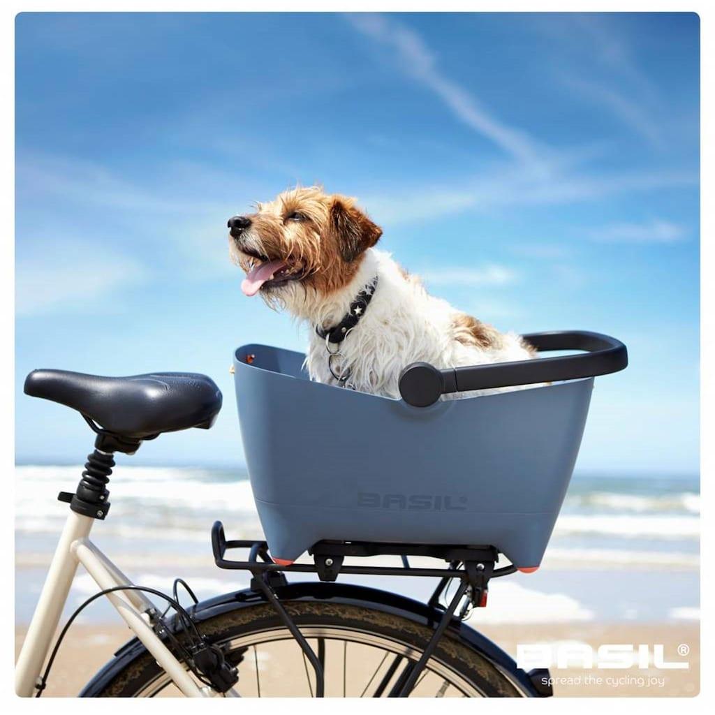 "Basil Fahrradkorb »Hinterradkorb Basil ""Buddy Dog""«"