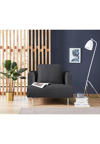 hülsta sofa Sessel »hs.440«, wahlweise in Stoff oder Leder, Spangenfüße glanzchrom kaufen