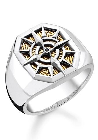 THOMAS SABO Fingerring »Kompass Gold, TR2278-849-7-52, 54, 56, 58, 60, 62, 64, 66, 68«, mit Zirkonia kaufen