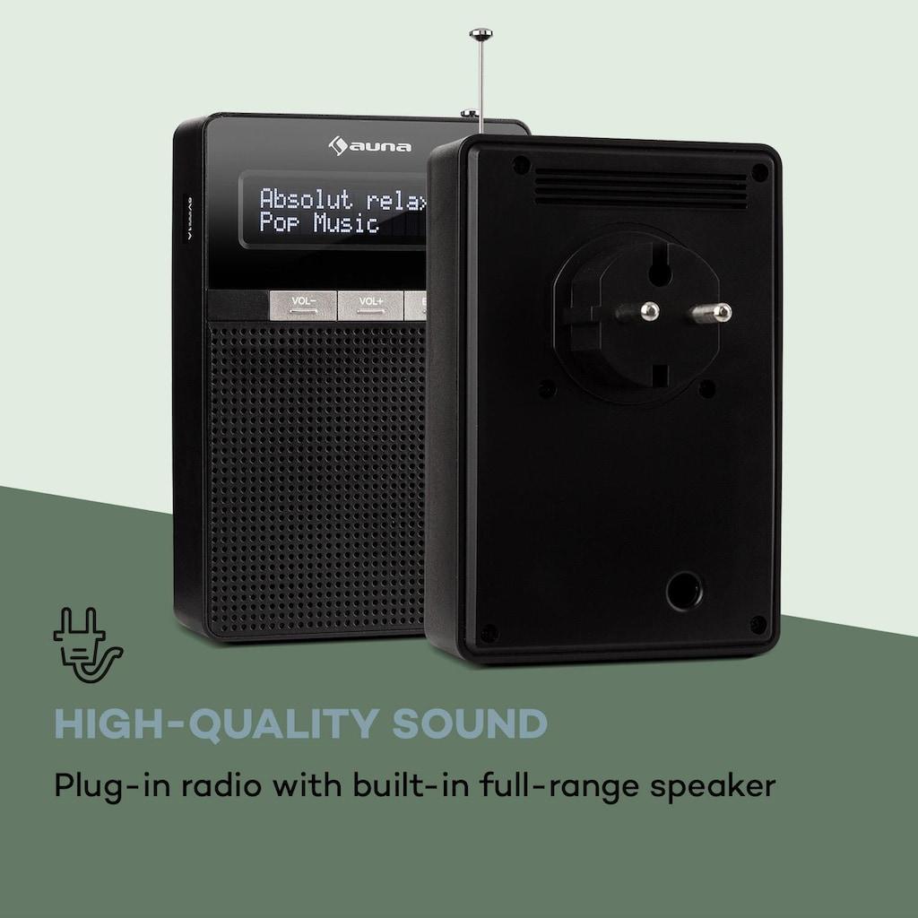 Auna Steckdosen-Radio, UKW/PLL, BT, LCD-Display, schwarz »DigiPlug FM«