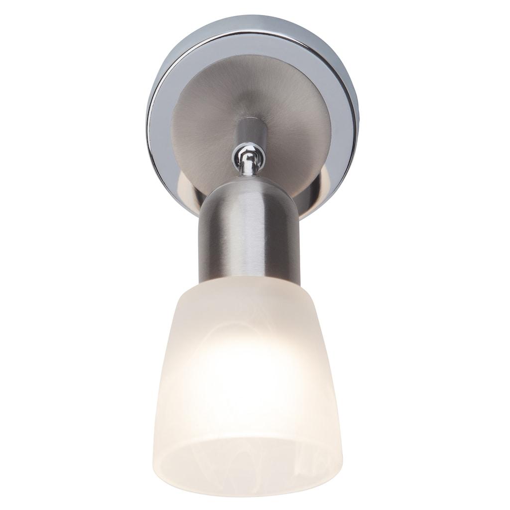 Brilliant Leuchten Bethany LED Wandspot eisen/chrom/weiß-alabaster