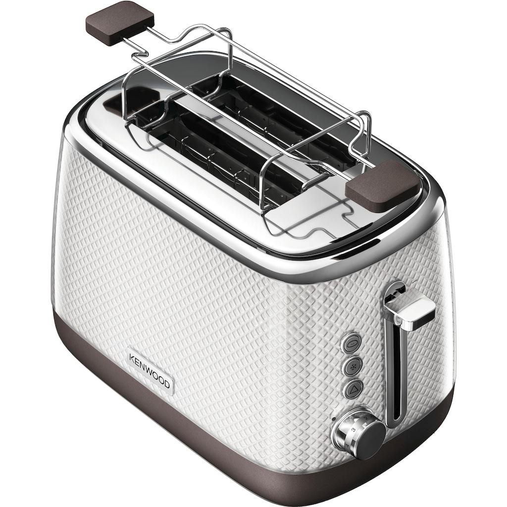 KENWOOD Toaster »Mesmerine TCM811.WH«, 2 kurze Schlitze, für 2 Scheiben, 1000 W
