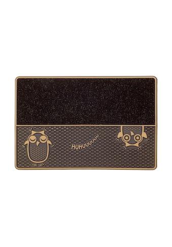 CarFashion Fußmatte »DC Clean Eulen«, rechteckig, 8 mm Höhe, Schmutzfangmatte, mit... kaufen