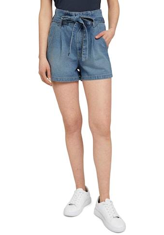 TOM TAILOR Denim Shorts, (mit abnehmbarem Gürtel), und Faltenlegung kaufen