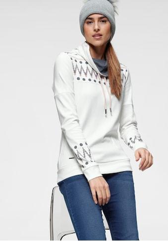 KangaROOS Sweatshirt, mit trendigem Druck vorn und an den Ärmeln kaufen