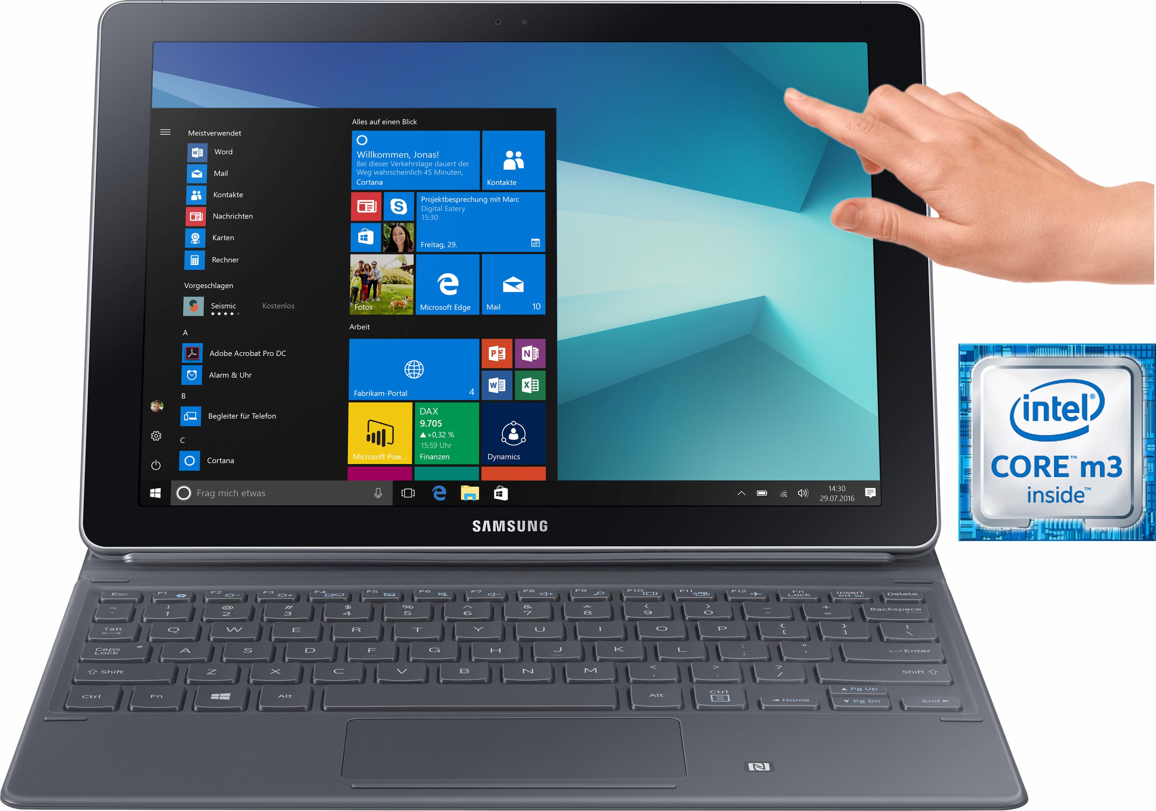 Samsung Galaxy Book 10.6 WiFi Convertible Notebook (10,6 Zoll, Intel, Core m3)