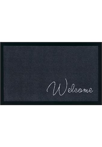 Home affaire Fußmatte »Welcome«, rechteckig, 5 mm Höhe, mit Spruch, In- und Outdoor... kaufen