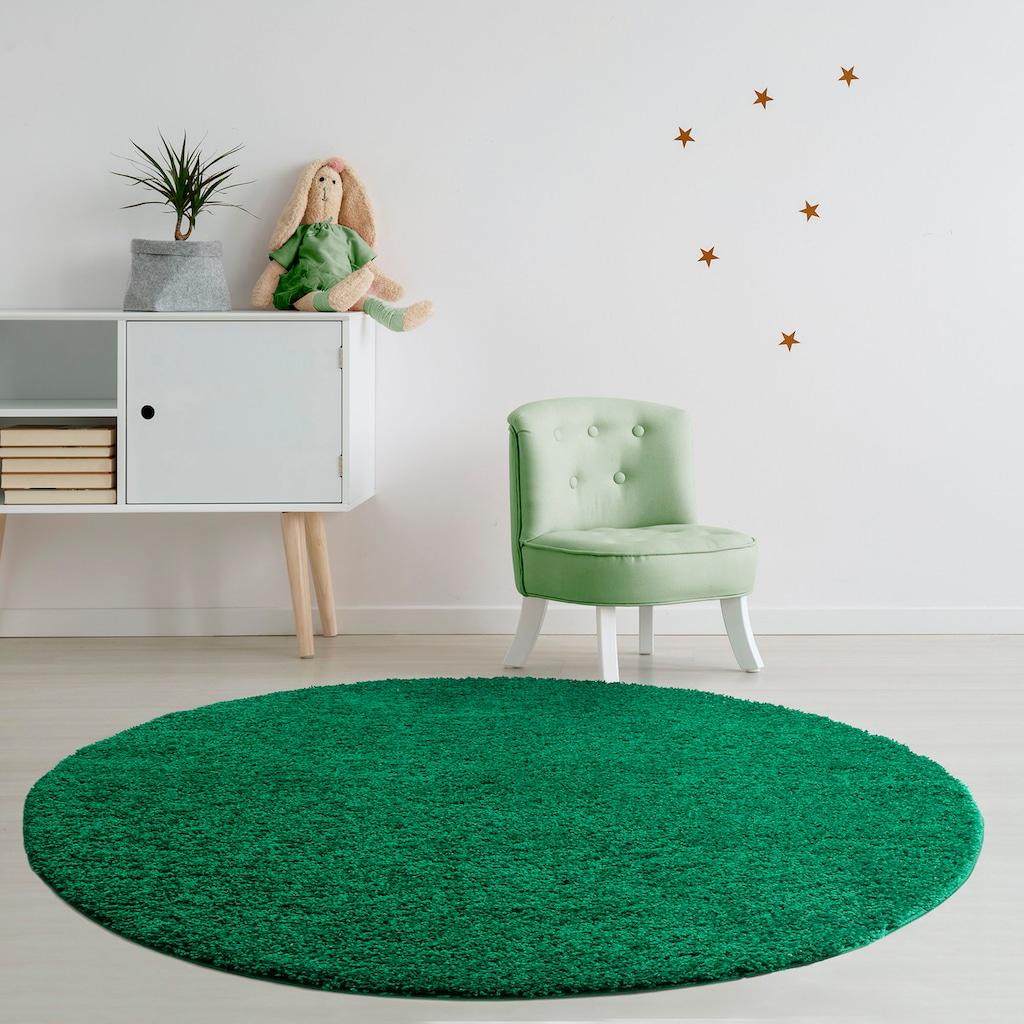 Hochflor-Teppich, »Viva«, Home affaire, rund, Höhe 45 mm, maschinell gewebt