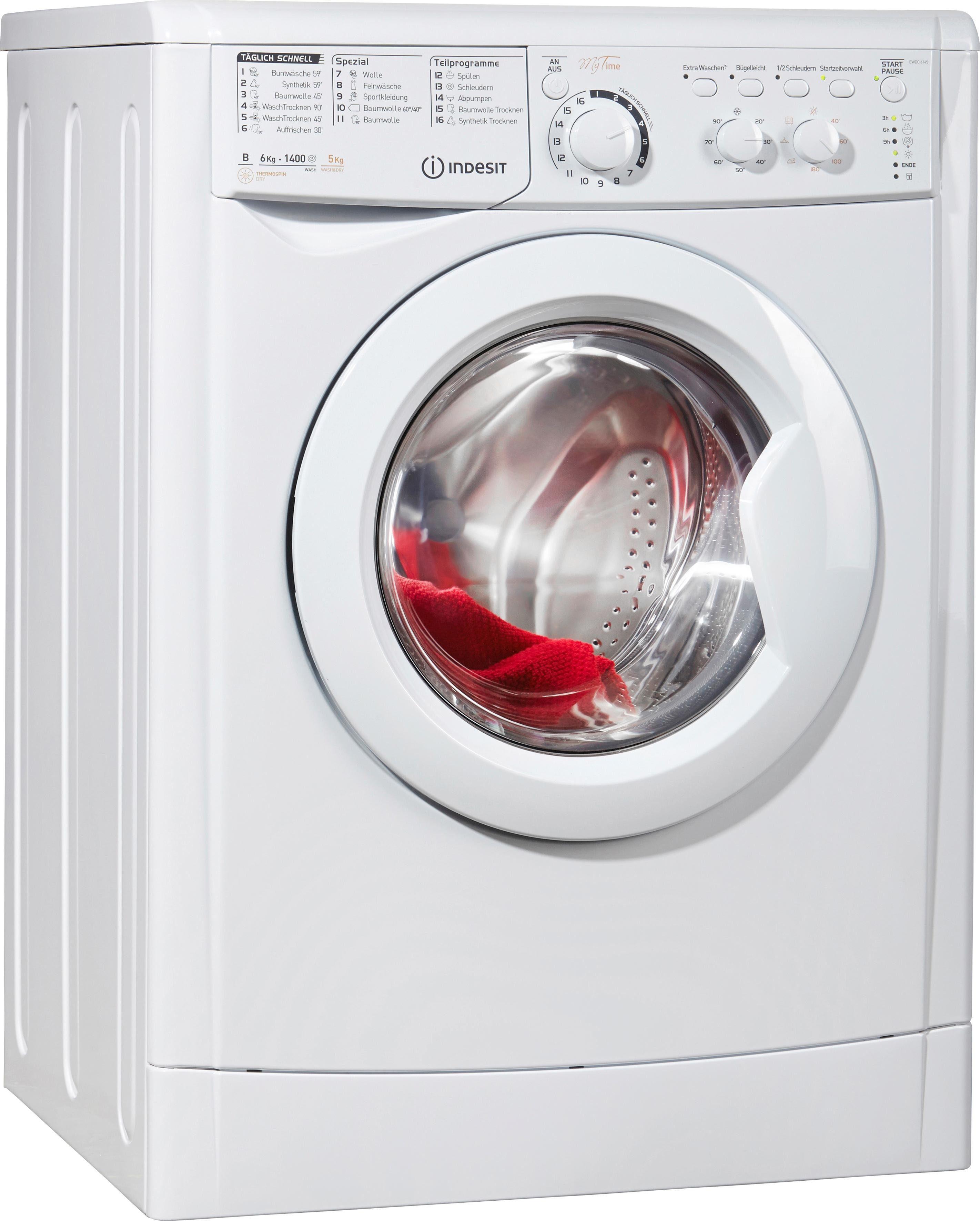 Indesit Waschtrockner 6 kg / 5 kg, 1400 U/Min