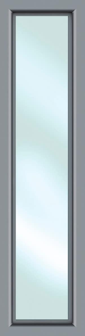 KM MEETH ZAUN GMBH Seitenteile »S01«, für Alu-Haustür, BxH: 60x208 cm, grau | Baumarkt > Modernisieren und Baün > Türen | Grau | Klarglas | KM MEETH ZAUN GMBH