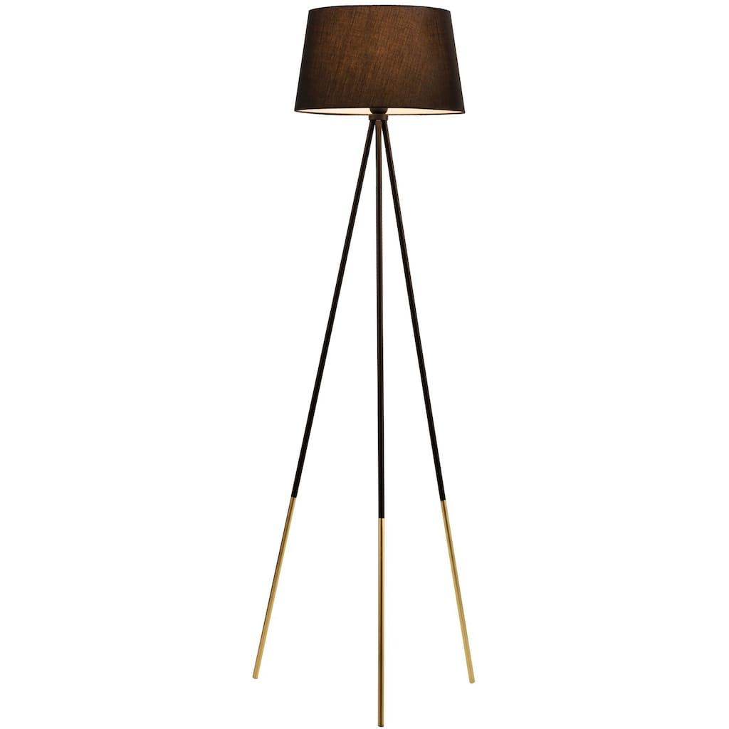 Pauleen Stehlampe »Grand Treasure«, E27, 1 St., Stoffschirm Schwarz