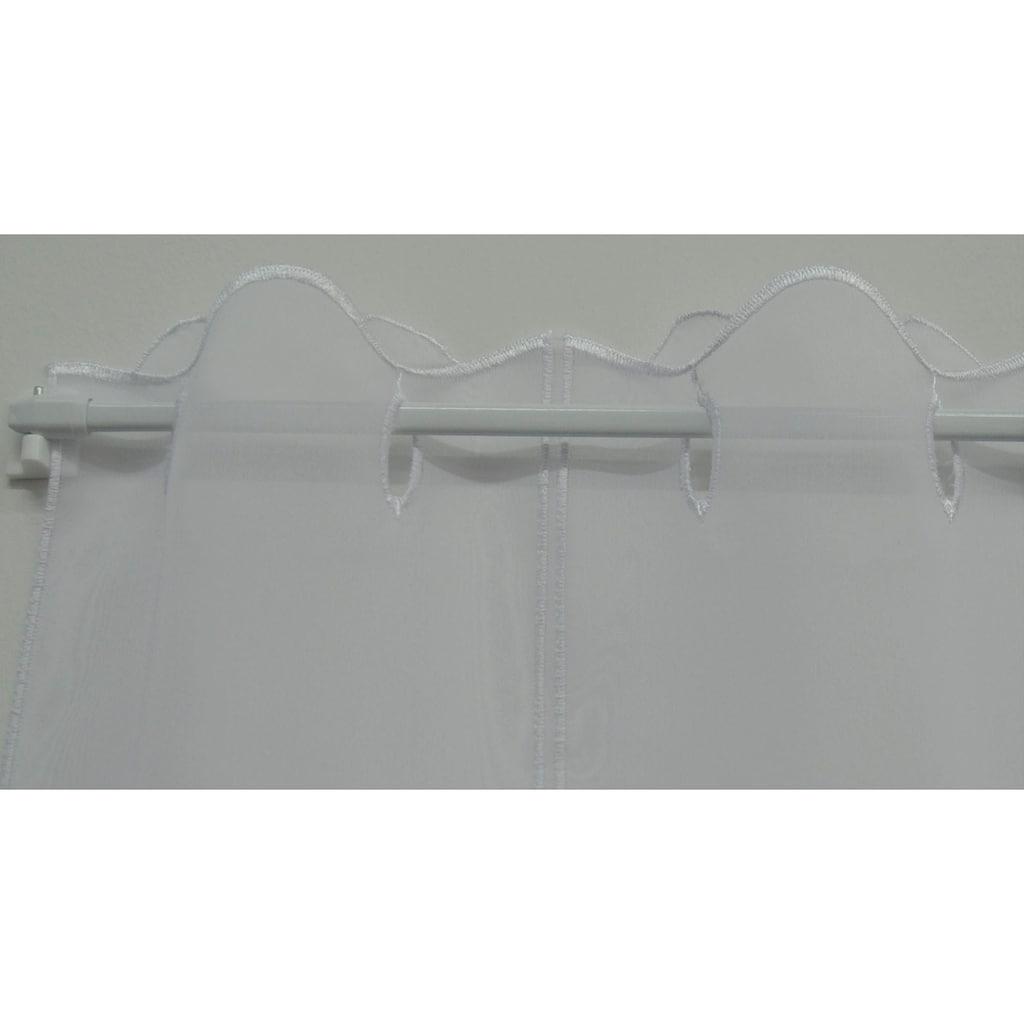 Stickereien Plauen Scheibengardine »Kreise«