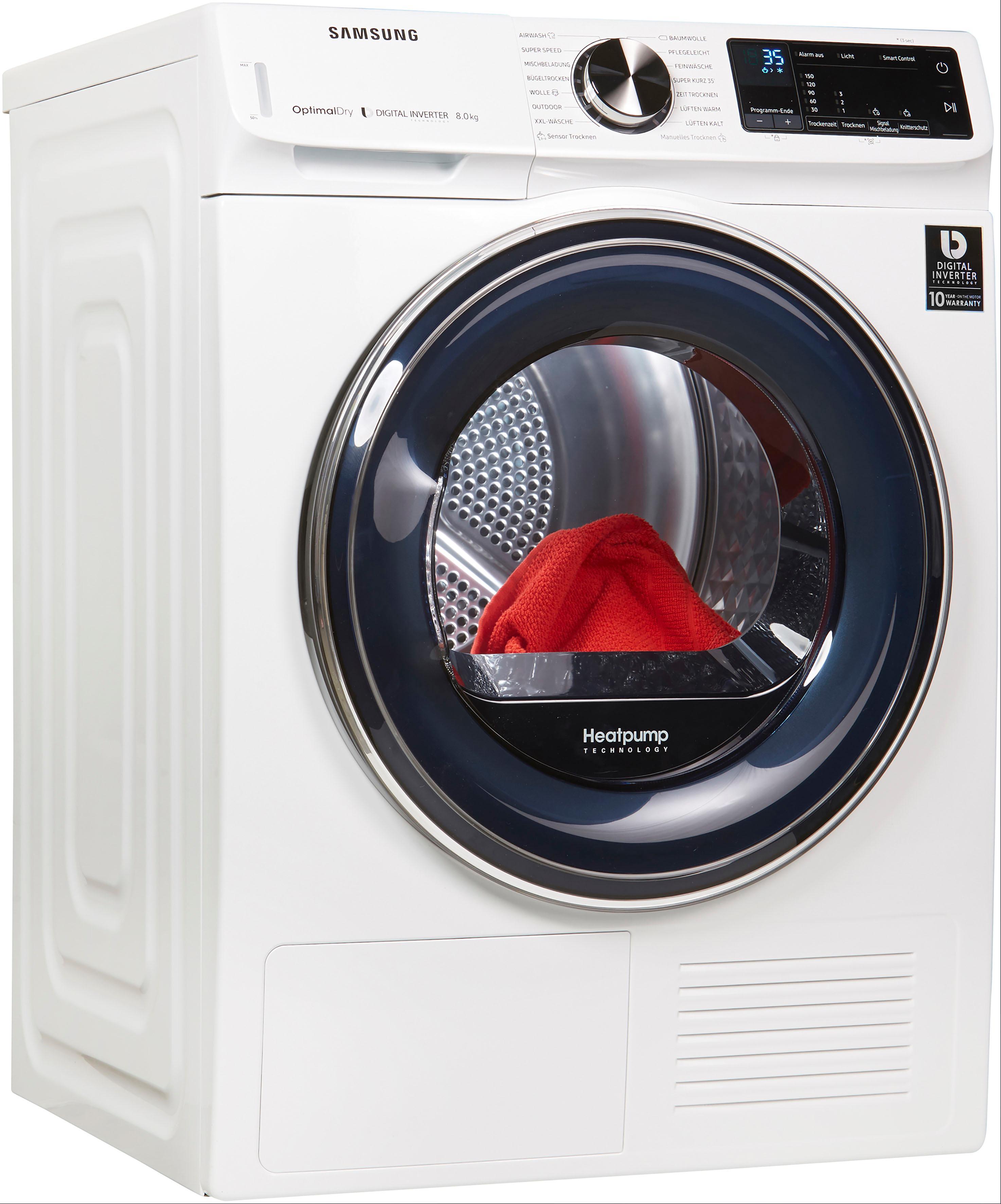 Samsung Wärmepumpentrockner QuickDrive DV6800 DV81N62532W/EG, 8 kg | Bad > Waschmaschinen und Trockner > Wärmepumpentrockner | Weiß | Samsung