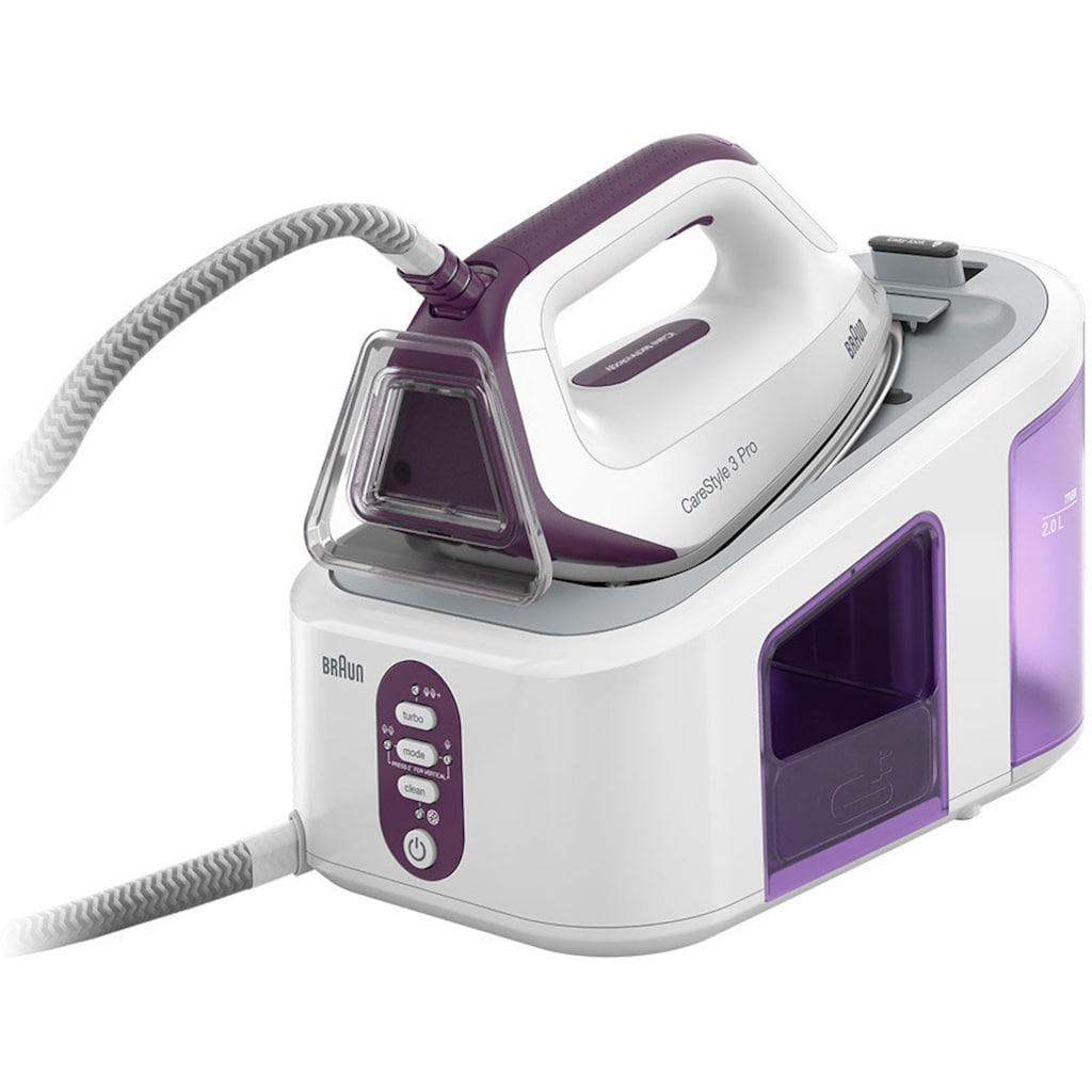 Braun Dampfbügelstation »CareStyle IS 3155«, violett, max. Dampfmenge 430g/min, Rückwärtsbügeln über Knöpfe
