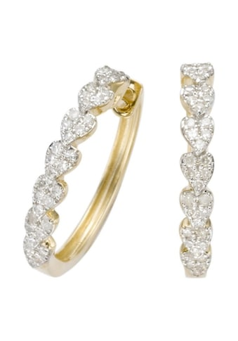 Firetti Paar Creolen »Herzen«, mit Diamanten kaufen