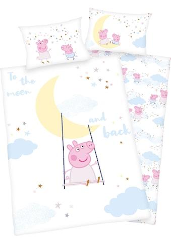 Peppa Pig Babybettwäsche »Peppa Pig«, mit niedlichem Motiv und liebevollem Schriftzug kaufen