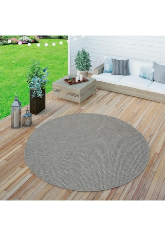Paco Home Teppich »Timber 125«, rund, 75 mm Höhe, Flachgewebe, Sisal Optik, In- und... kaufen